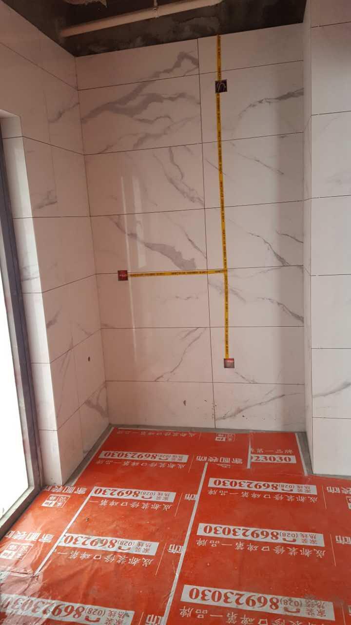 墙地砖贴完以后胶带注明水电线路